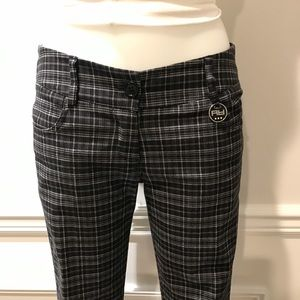 Artigli Italian plaid black,grey & white crop pant